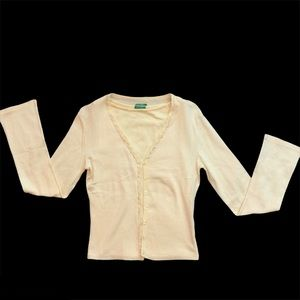 UNITED COLORS OF BENETTON yellow sweater set Y2K